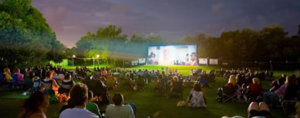 One of London's Outdoor Cinemas